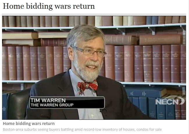Home Bidding Wars Return – Tim Warren weighs in on NECN